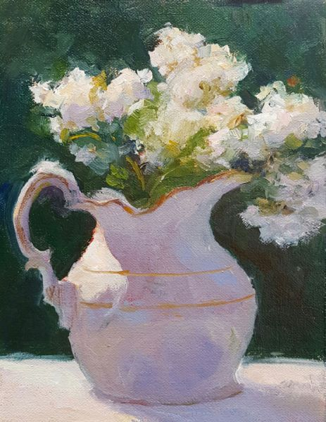 Joey Frisillo – Pitcher with Crepe Myrtle