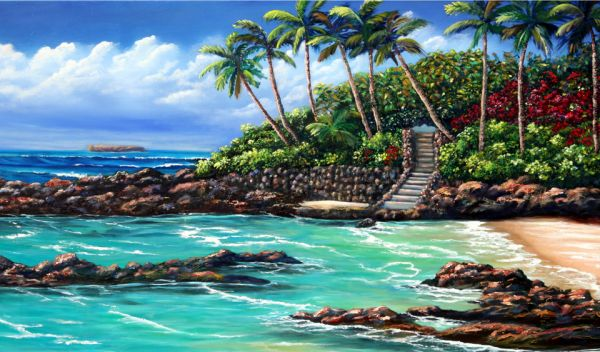 Kathy McCartney – Lovers Cove – Secret Beach, Maui