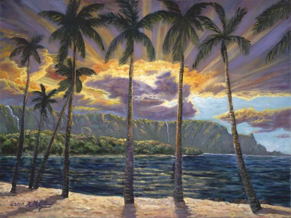 Kathy McCartney – Stormy Sunset Kauai Bali Hai