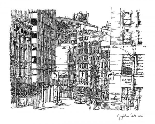 "Guglielmo Botter – ""Pittsburgh, PA: Liberty Avenue from 7th"""