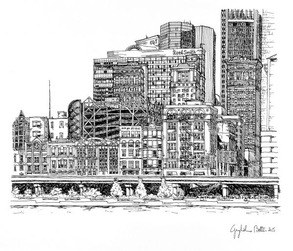 """Guglielmo Botter – """"Pittsburgh, PA: Monongahela Riverfront"""""""
