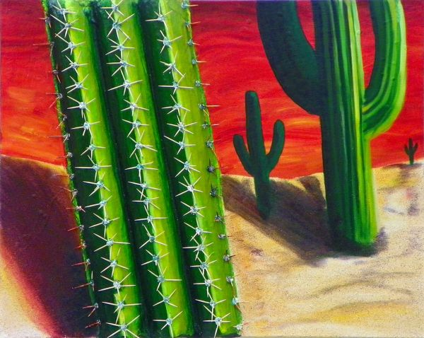 Elizabeth Tilghman – The Cucumber Cacti in the Painted Desert of My Mind