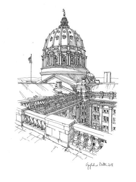 "Guglielmo Botter – ""Harrisburgh, PA: Pennsylvania State Capitol Building"""