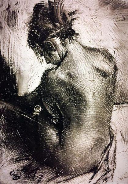 """Jacob T. Secrest – """"Untitled – Seated Figure"""""""